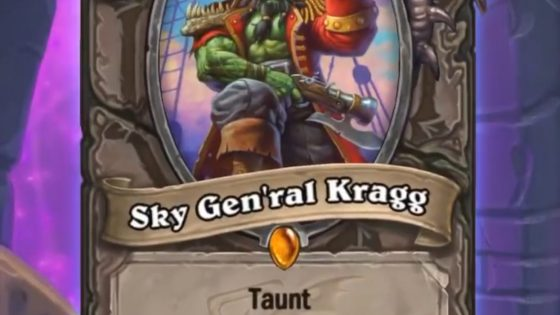 Watch out below, ye barnacle-bottomed swine: Sky Gen'ral Kragg arrives in Galakrond's Awakening.
