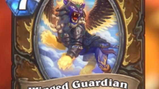 The Druid class gets a powerful new Rare minion in the form of Winged Guardian.