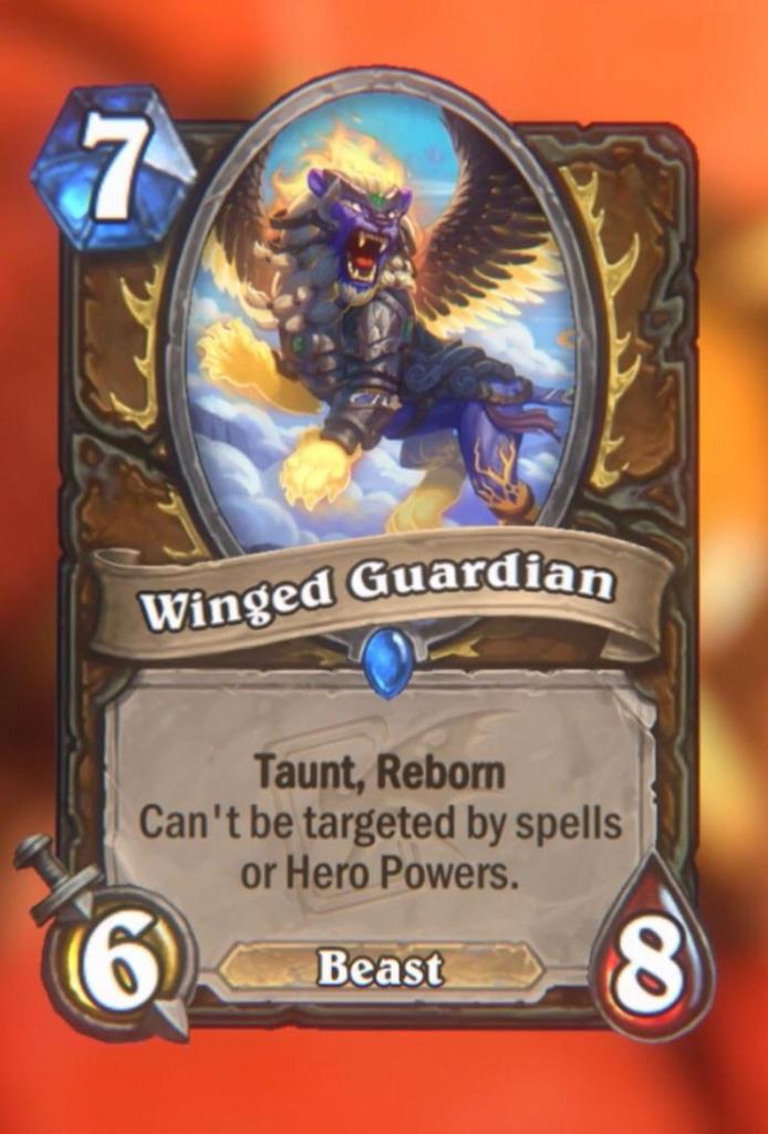 Hearthstone: Descent of Dragons: Winged Guardian, new rare Druid minion revealed