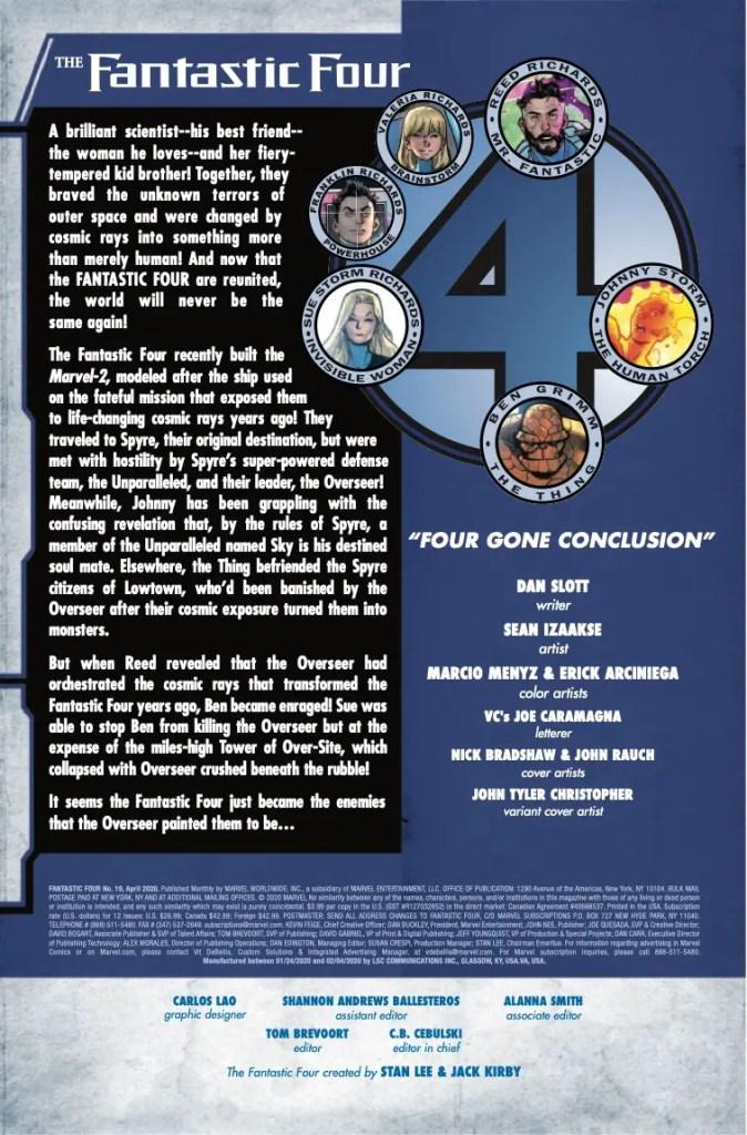 Marvel Preview: Fantastic Four #19