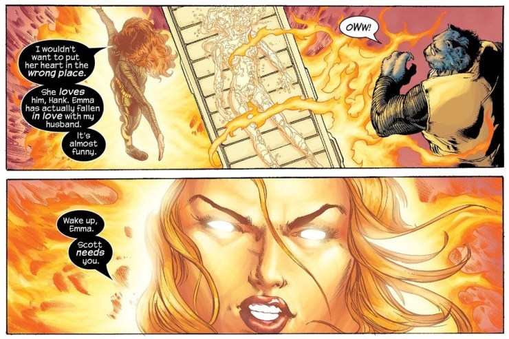Jean Grey, Emma Frost and the object of their affection