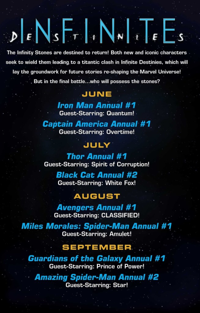 Marvel Comics announces 'Infinite Destinies' starting June 2020