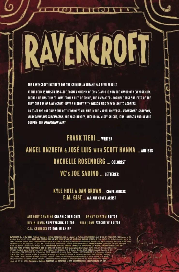 Marvel Preview: Ravencroft #3