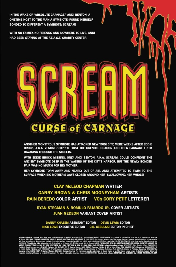 Marvel Preview: Scream: Curse Of Carnage #5