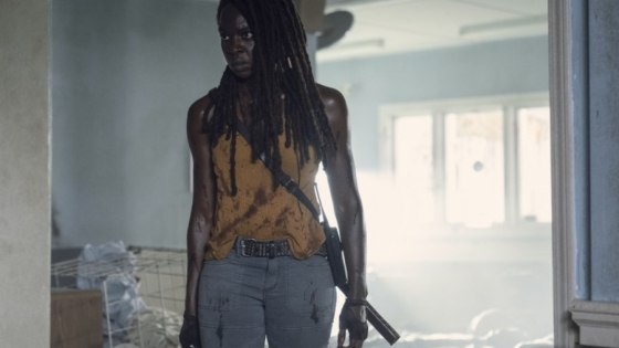 Michonne and Danai Gurira make their exit.