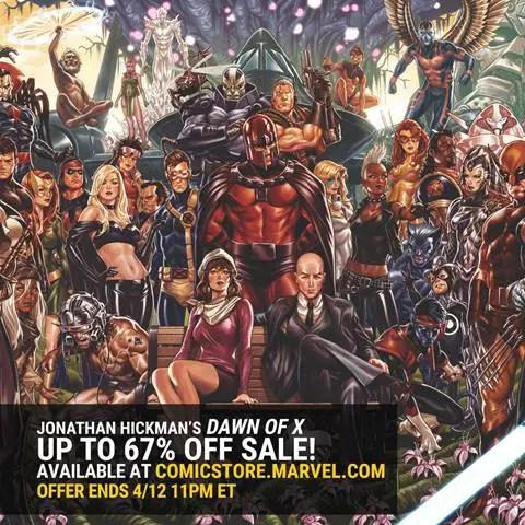 Marvel Comics announces Dawn of X sale on Marvel's Digital Comics Shop through April 12th