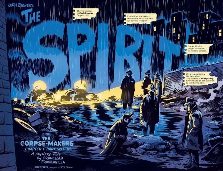 A look back at Francesco Francavilla's turn at the world of the Spirit.