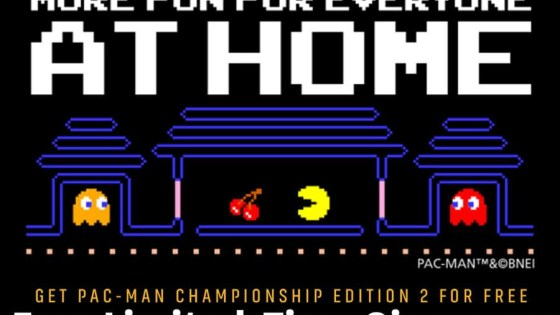 "Bandai Namco Entertainment has announced that starting today for a limited time PAC-MAN Championship Edition 2 will be available as a free download as part of their ""more fun for everyone"" initiative. The game can be downloaded and played for free on PlayStation 4, PC, and Xbox One. No strings attached, it's yours forever."