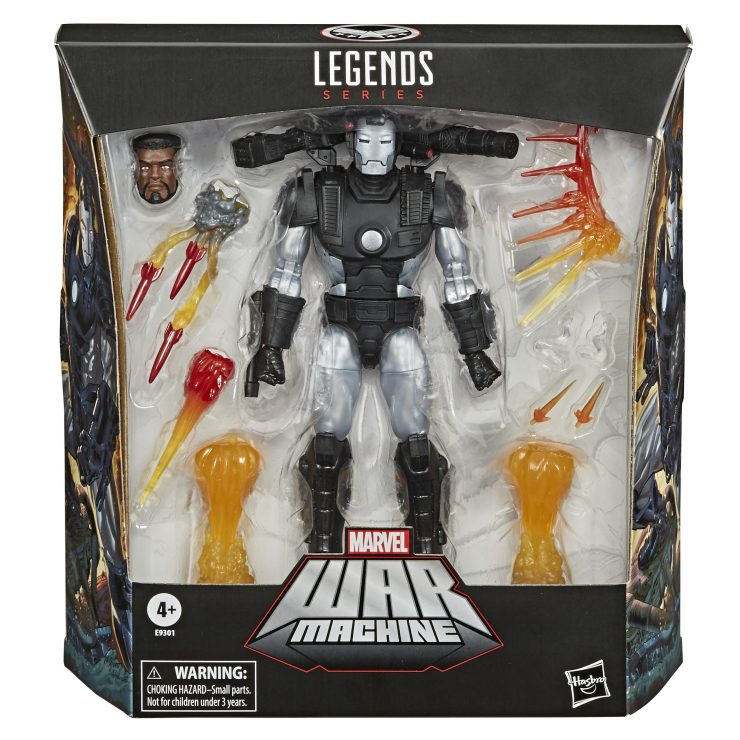 Marvel Legends Deluxe War Machine packaged