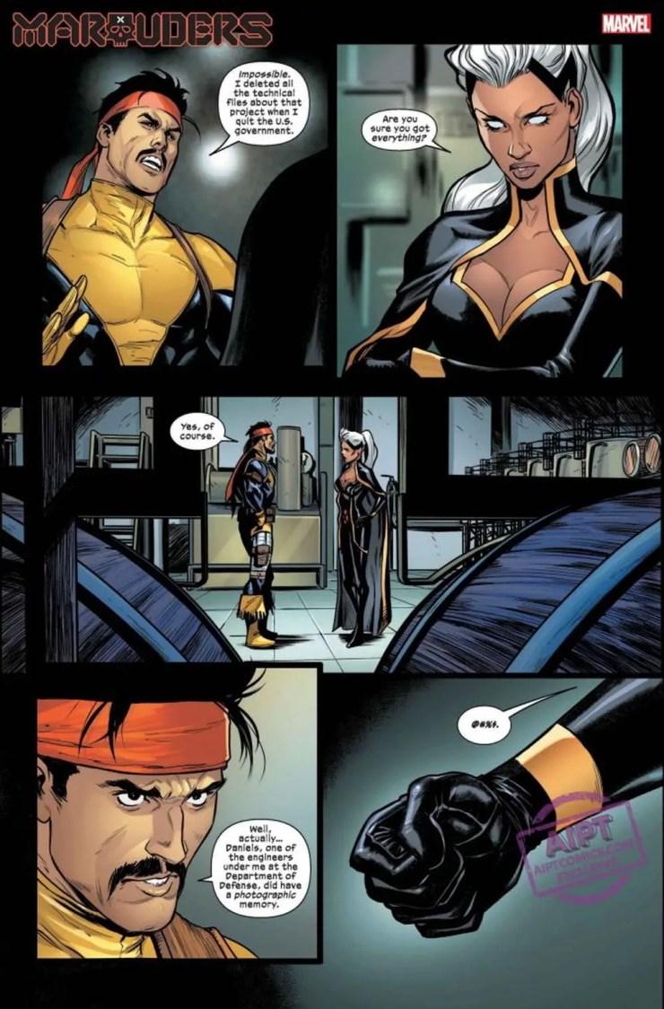 Marauders #10 panel