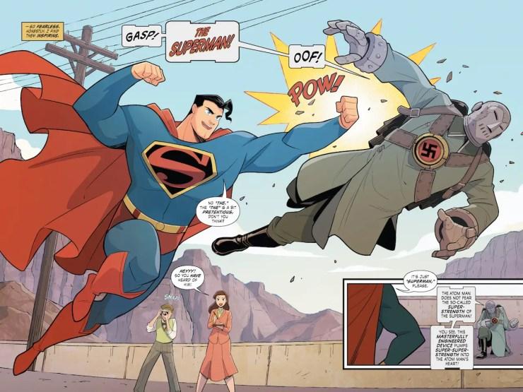 Superman Smashes the Klan interior art