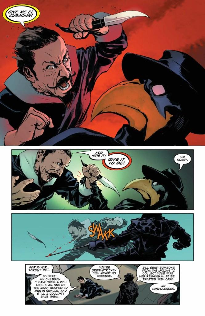 Hawkman as plague doctor