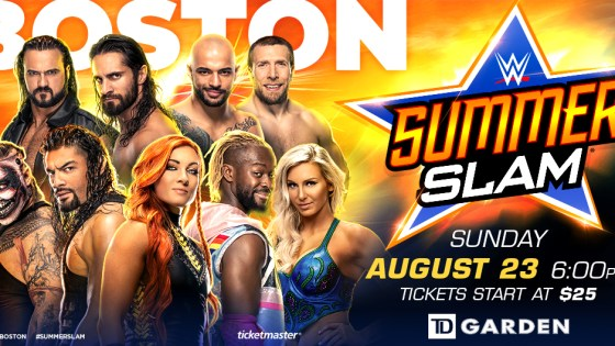 WWE SummerSlam 2020 Boston poster