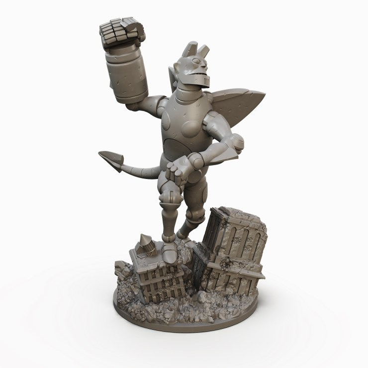Giant Robot Hellboy