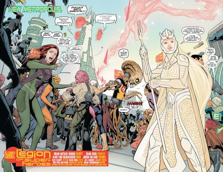 In Legion of Superheroes, meet the latest crop of Legionnaires: Gold Lantern! Monster Boy! Doctor Fate!