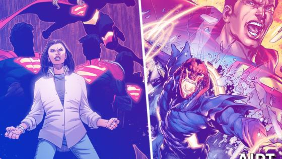 Superman must save the Earth from a new villain, plus it's in an extra-sized issue!