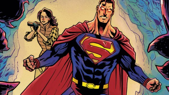 Superman and Lois respond to an emergency call at the mines outside of Metropolis in Superman: The Man of Tomorrow #9.