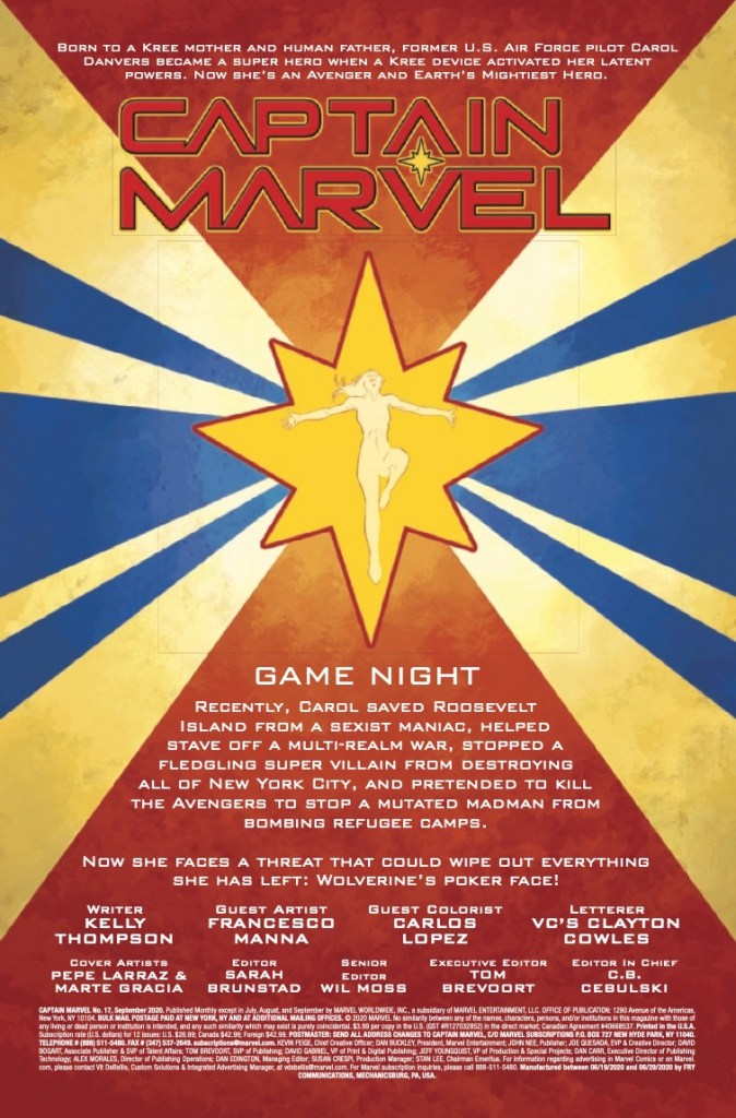 Marvel Preview: Captain Marvel #17