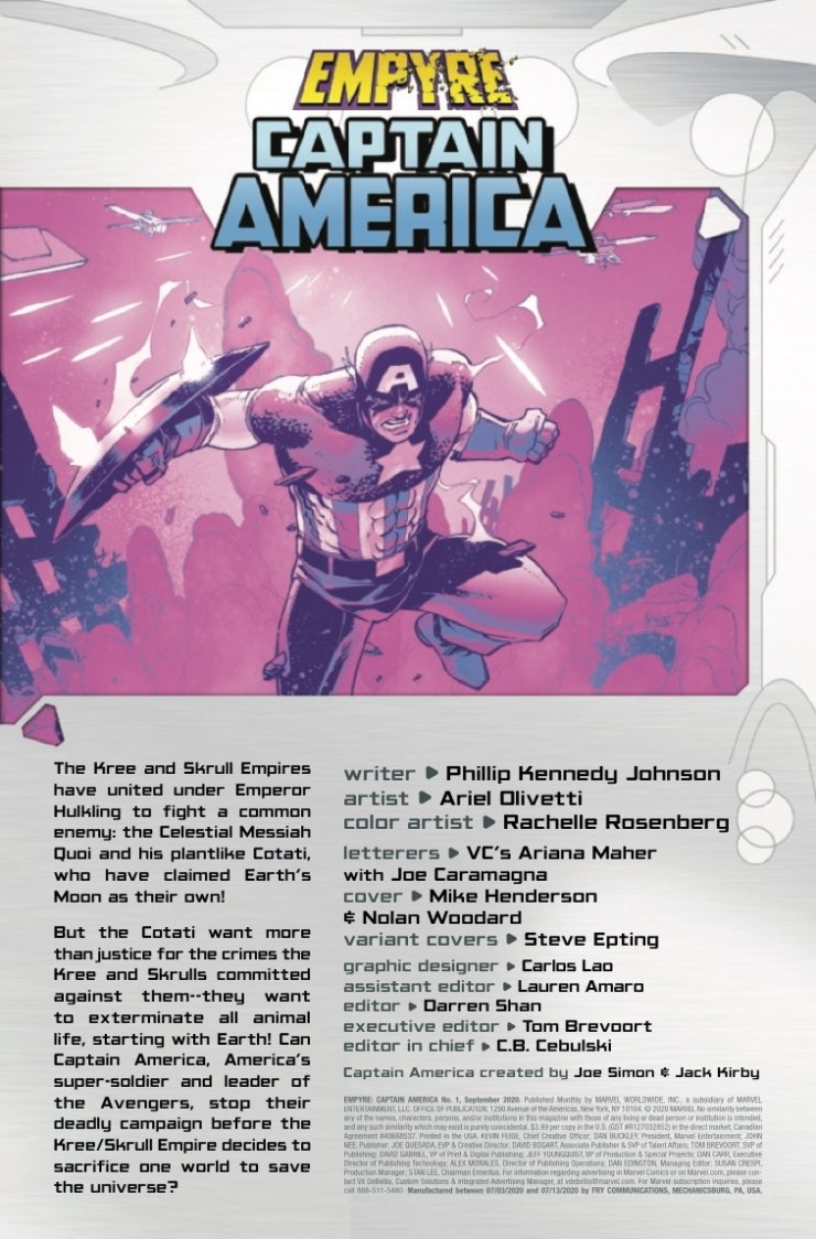 Marvel Preview: Empyre: Captain America #1