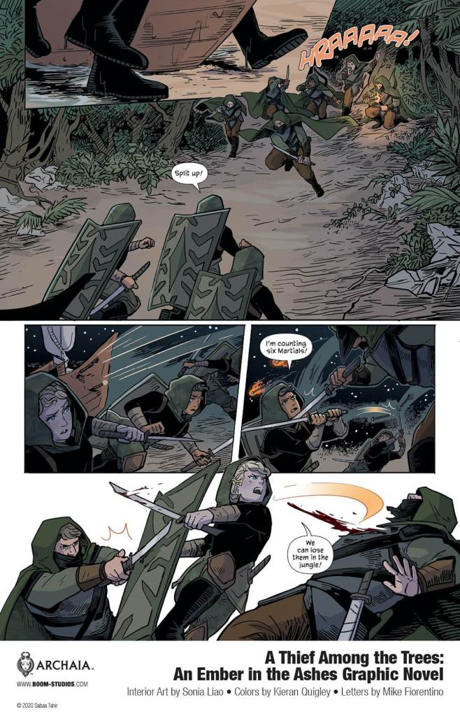 BOOM! Preview: A Thief Among the Trees: An Ember in the Ashes graphic novel