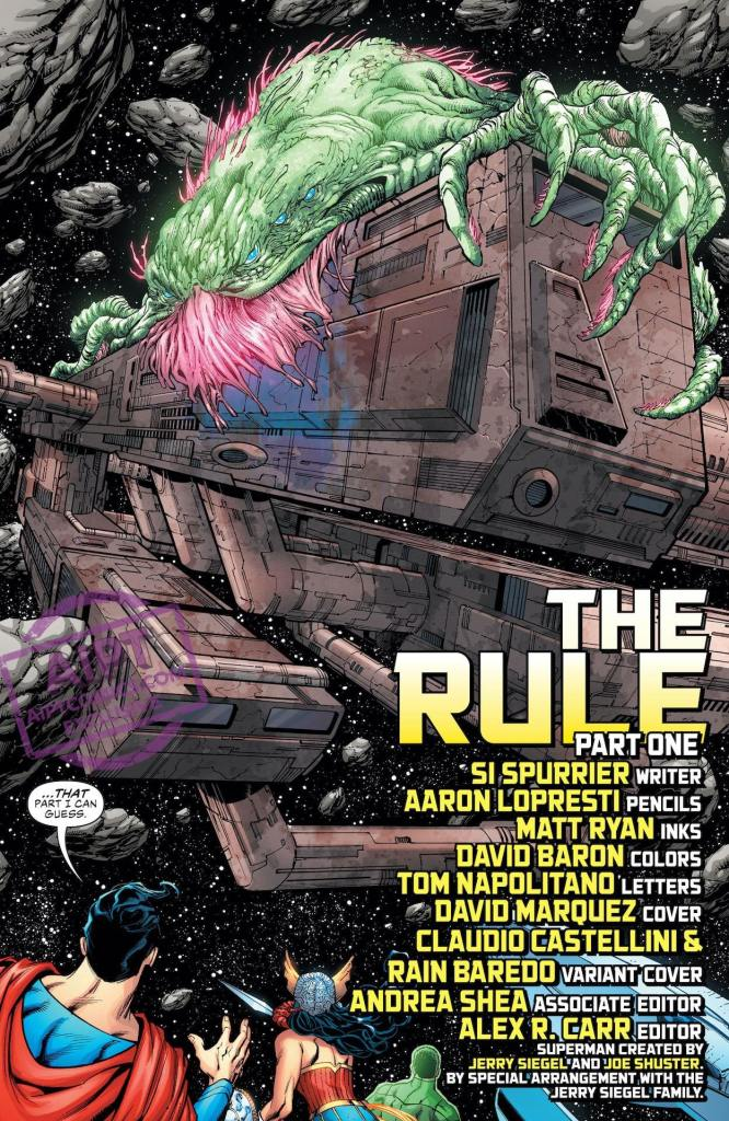 "Simon Spurrier's three-part Justice League tale ""The Rule of War,"" starts here!"