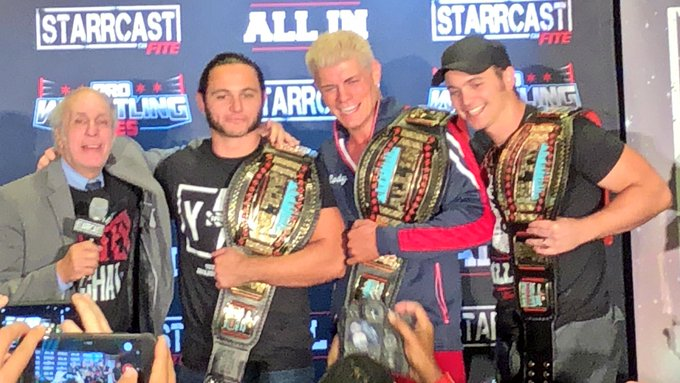 Cody Rhodes, Young Bucks and Bill Apter