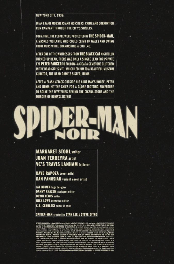 Spider-Man Noir #2