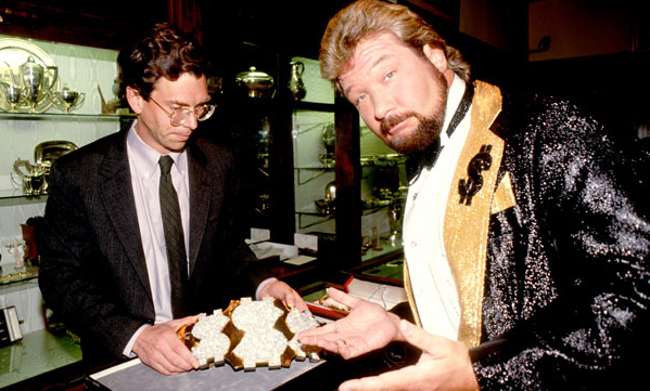 Ted DiBiase with the Million Dollar Championship
