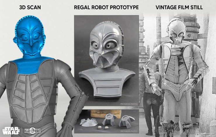 Process of creating the new Star Wars CZ-3 bust from movie to bust