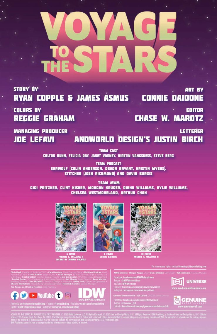 IDW Preview: Voyage to the Stars #1