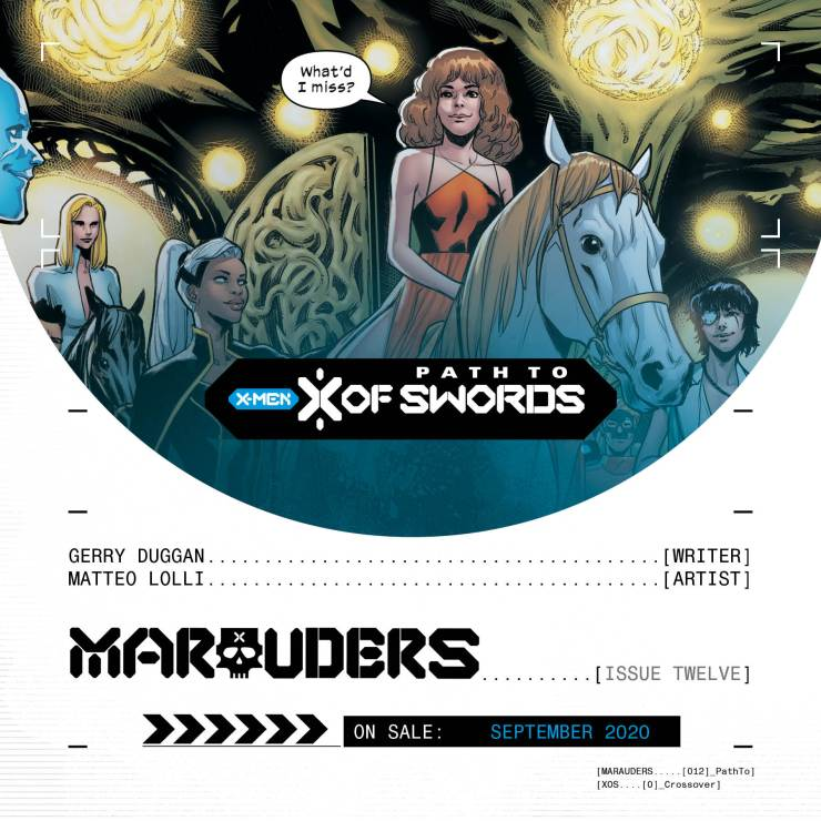 Path to 'X of Swords' teasers continue with 'Marauders' #12