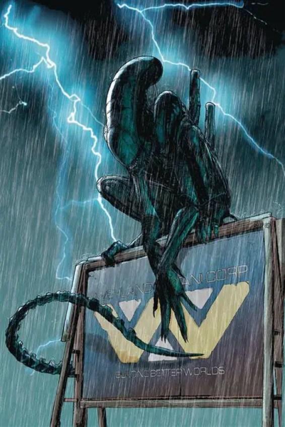 'Aliens Resistance' cover by Tristan Jones (Dark Horse Comics)