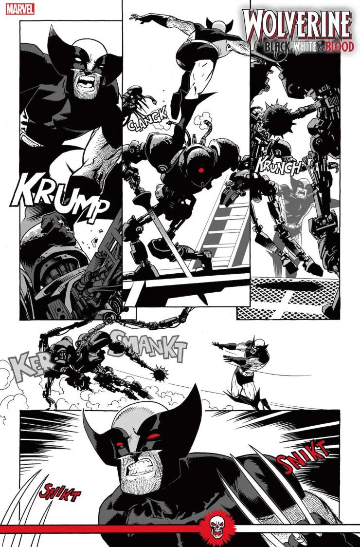 Marvel First Look: Wolverine: Black, White & Blood #2