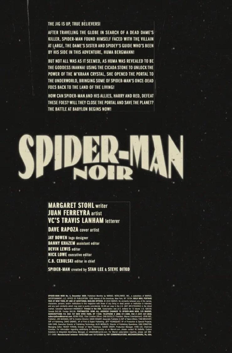 Marve Preview: Spider-Man Noir #5