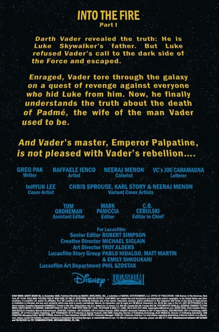 Marvel Preview: Star Wars: Darth Vader #6