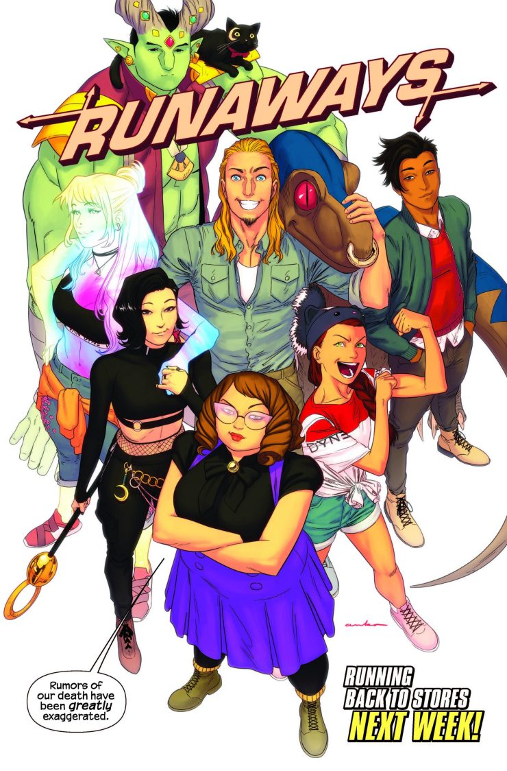 'The Runaways' returns with issue #32 next week