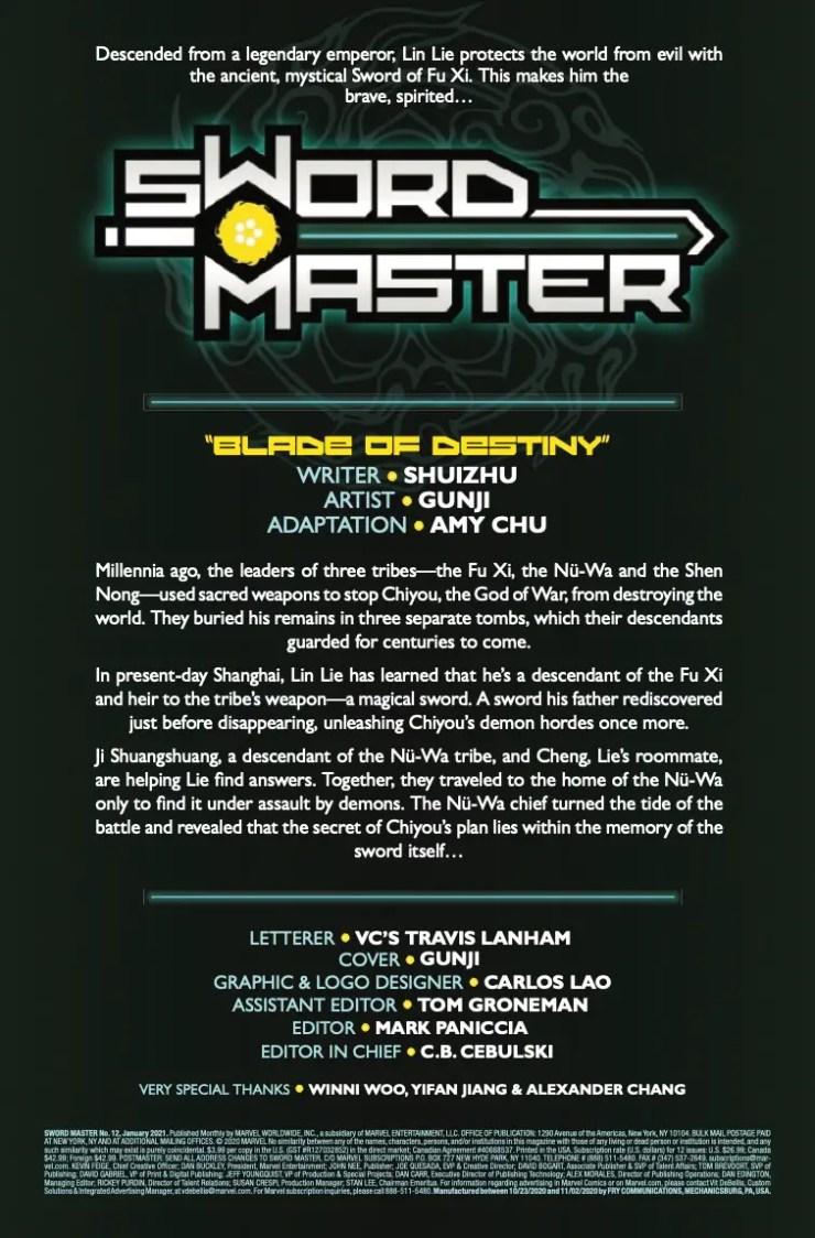 Sword Master #12 2020