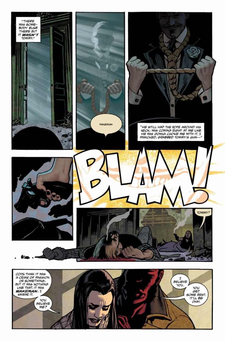 Hughes and Robins art - Hellboy and the B.P.R.D.: The Seven Wives Club