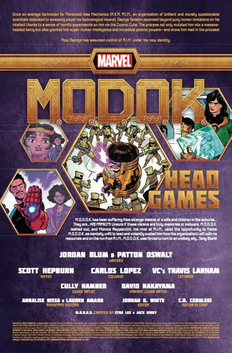 M.O.D.O.K.: Head Games (2020-) #2 (of 4)