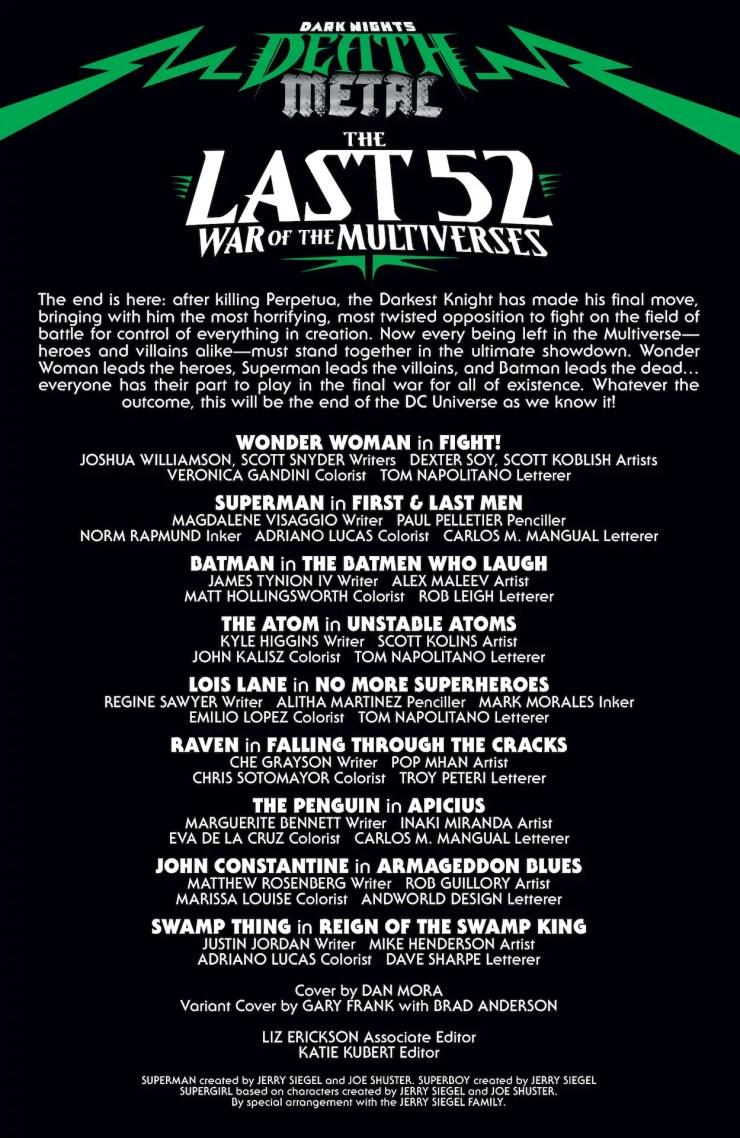 Dark Nights: Death Metal The Last 52: War of the Multiverses #1