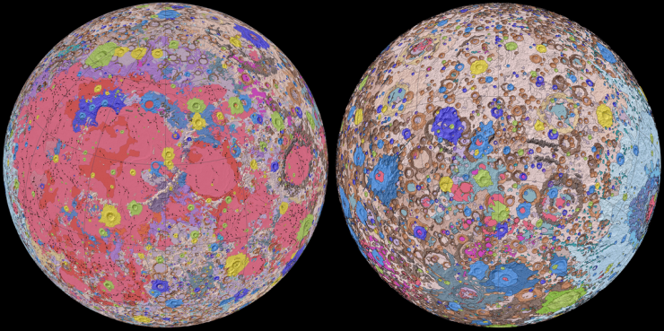 2020 geologic map of Moon