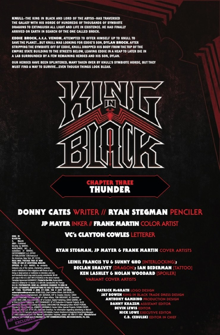King in Black #3 preview Marvel Comics