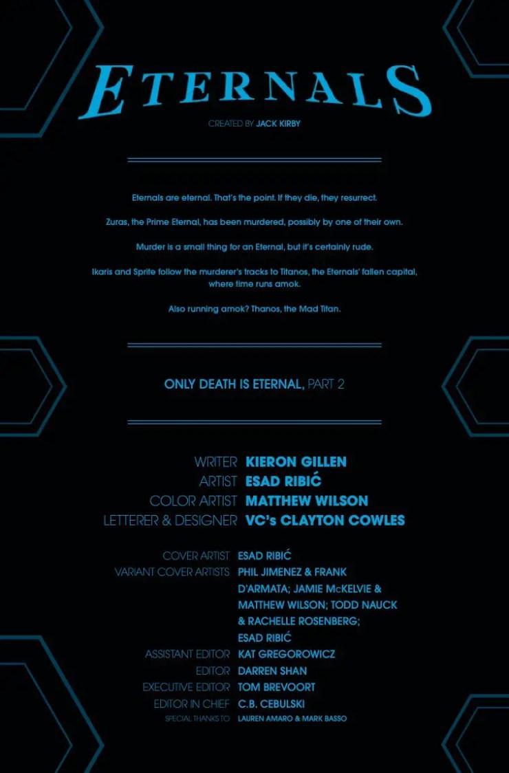 Marvel Preview: Eternals #2