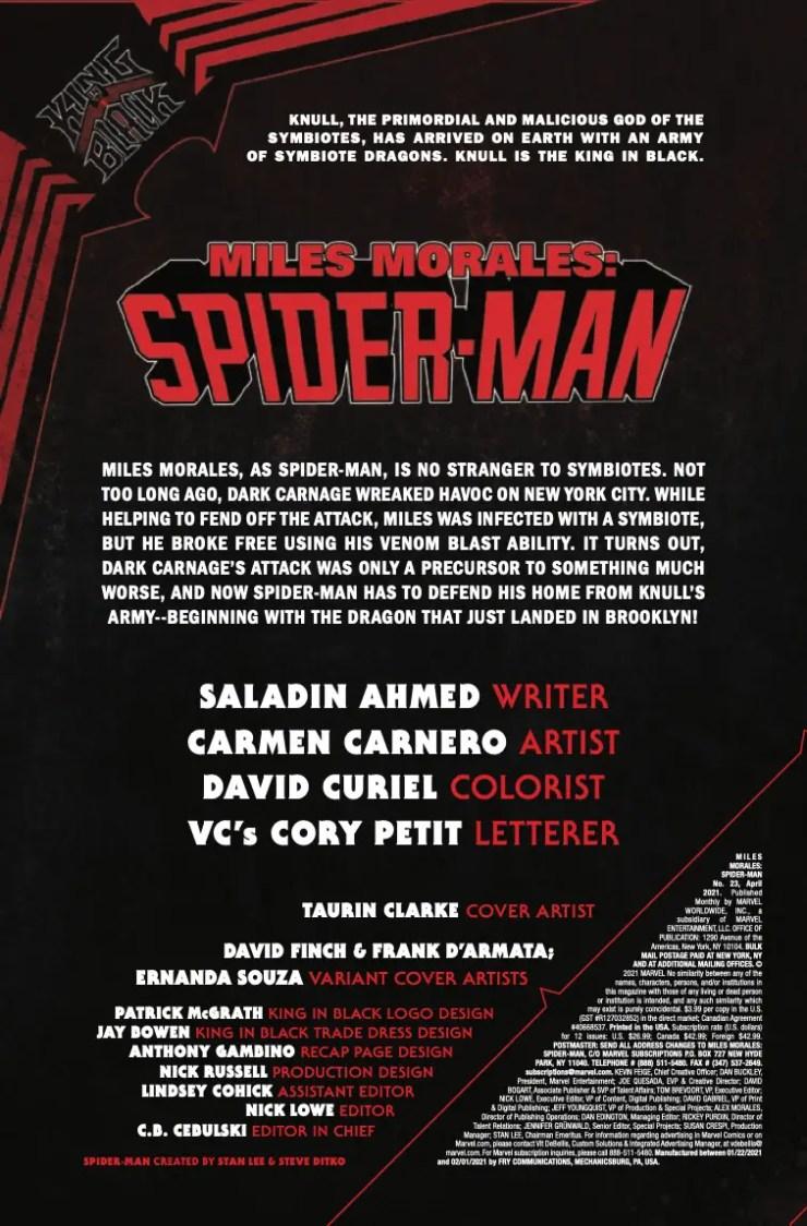 Miles Morales: Spider-Man (2018-) #23