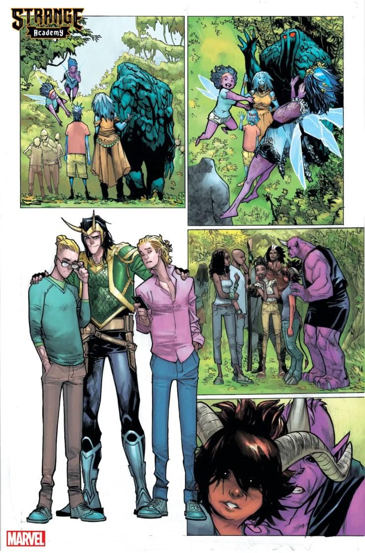 Strange Academy #9 teases Scarlet Witch and Loki