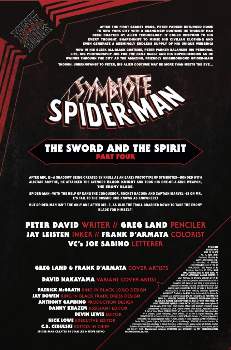 Marvel Preview: Symbiote Spider-Man: King in Black #4