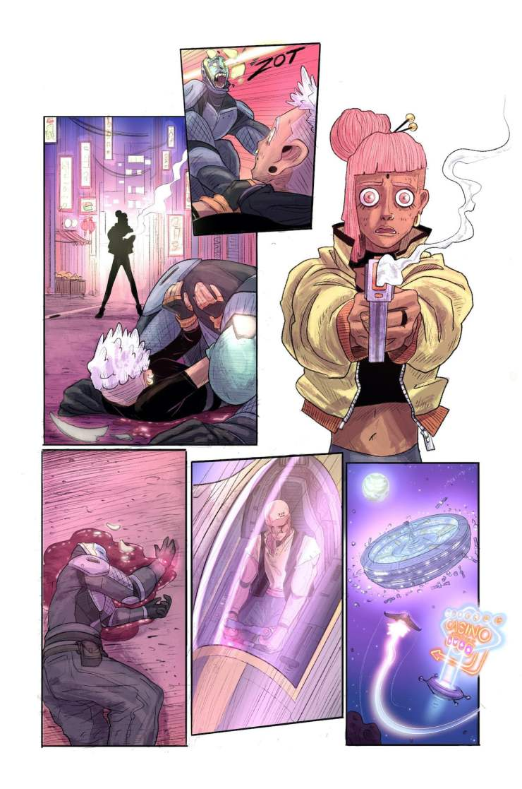 Becstar #1 preview Mad Cave Studios