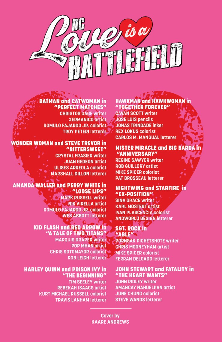 DC Love Is A Battlefield (2021-) #1
