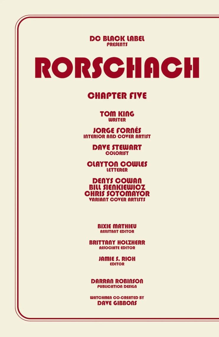 DC Preview: Rorschach #5