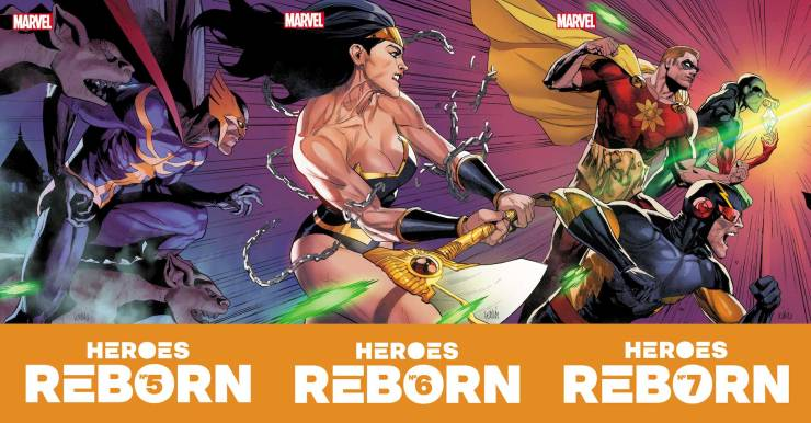 Check out every 'Heroes Reborn' one-shot and issues #5-7 June covers
